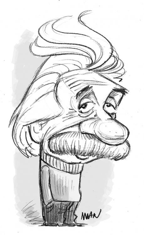 Caricature : Einstein 2