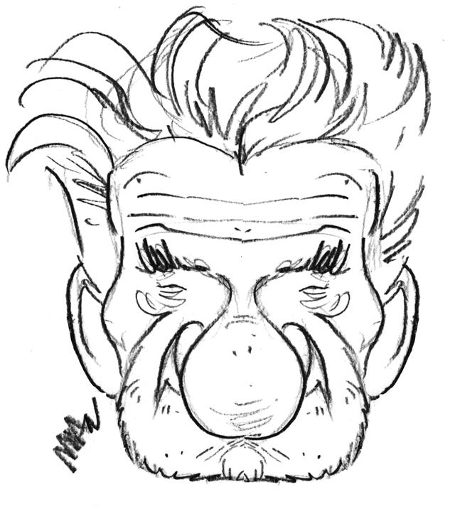 Caricature : Mitchell E. 2