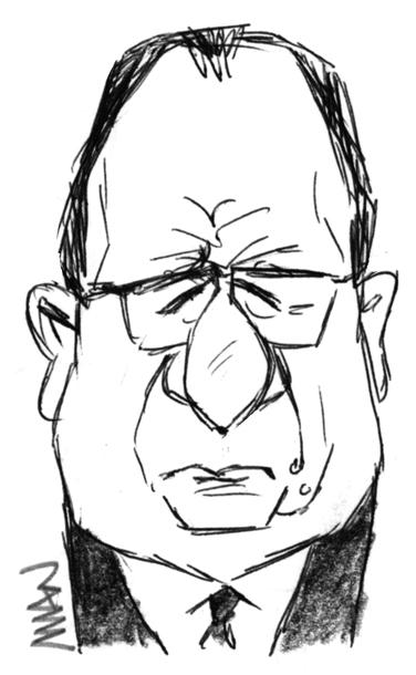 Caricature : Hollande F5