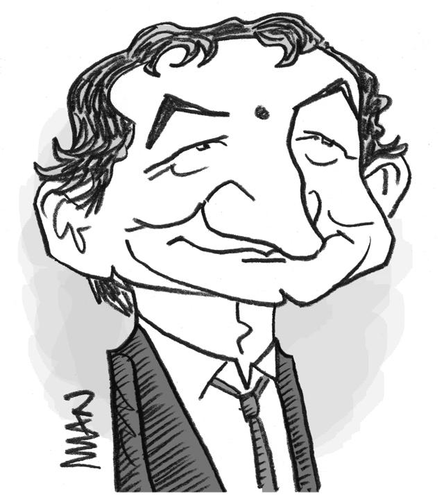 Caricature : Desproges 2