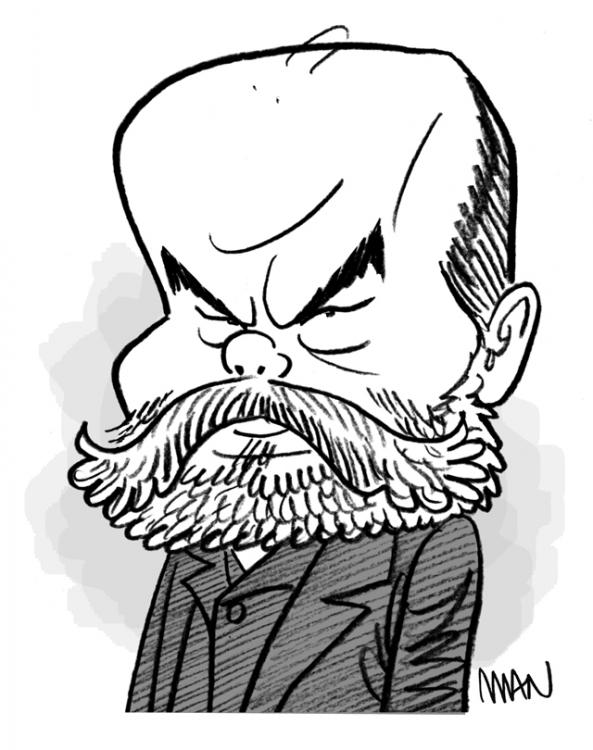 Caricature : Verlaine Paul
