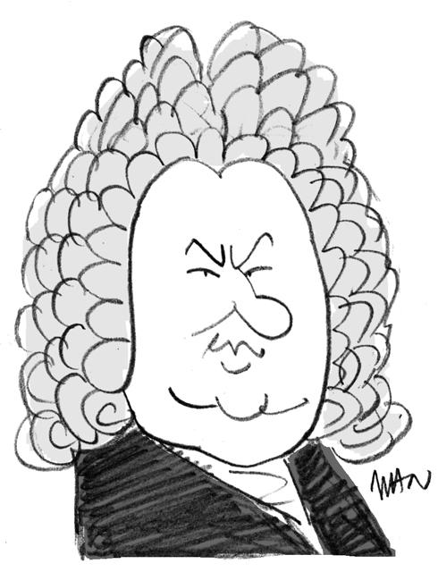 Caricature : Bach J.S.