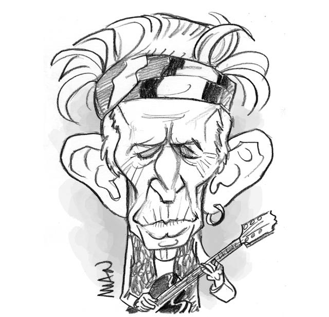 Caricature : Richards Keith 2