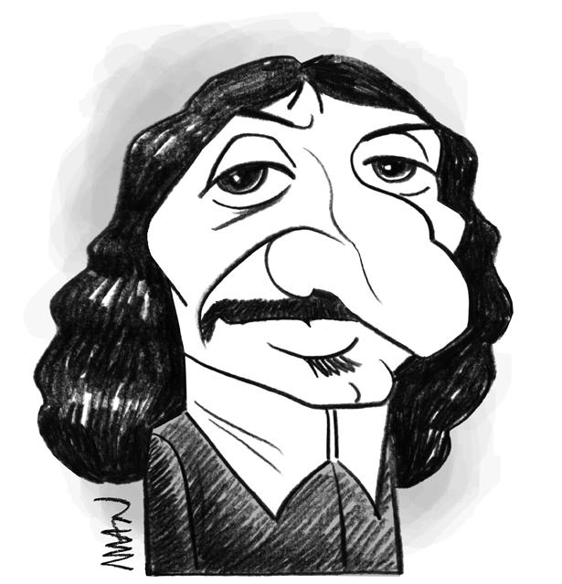 Caricature : Descartes René