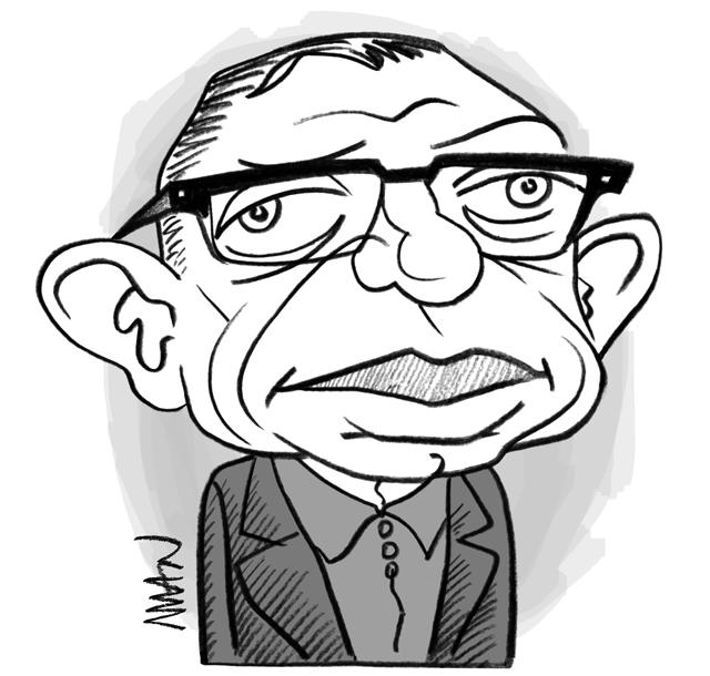 Caricature : Sartre Jean-Paul