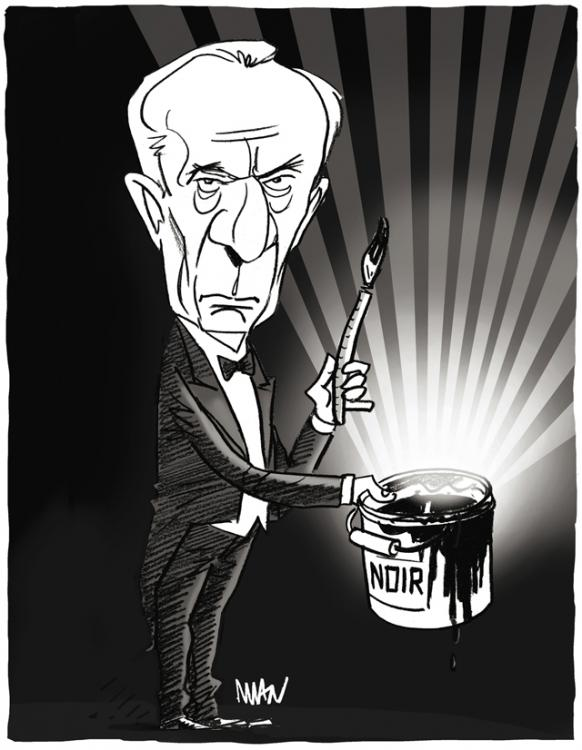 Caricature : Soulages Pierre