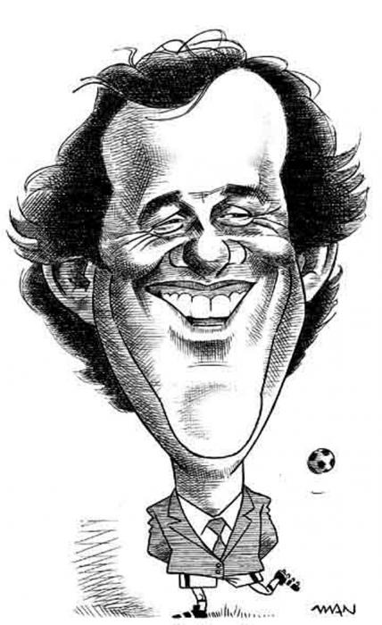 Caricature : Platini Michel