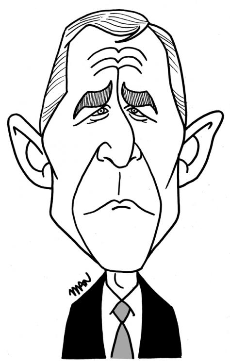 Caricature : Bush G.W.