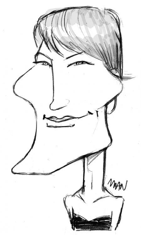 Caricature : Wright Robin