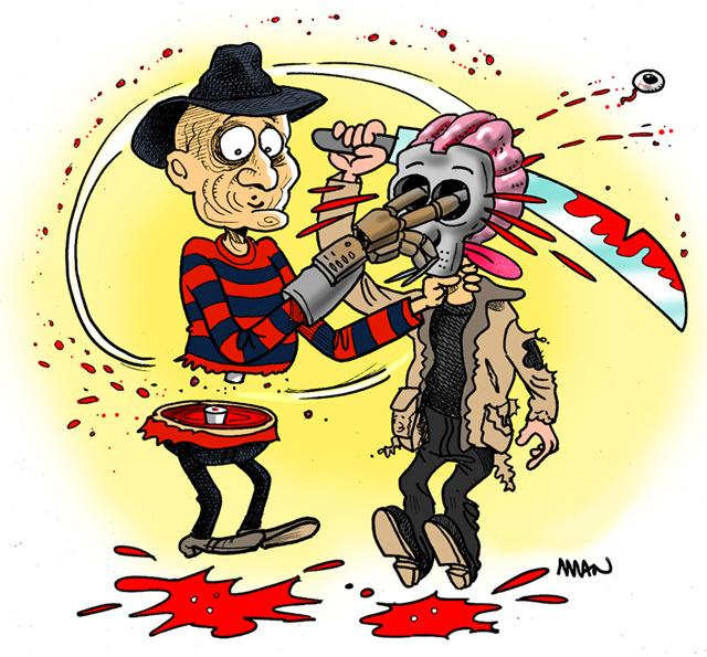 Caricature : Freddy & Jason