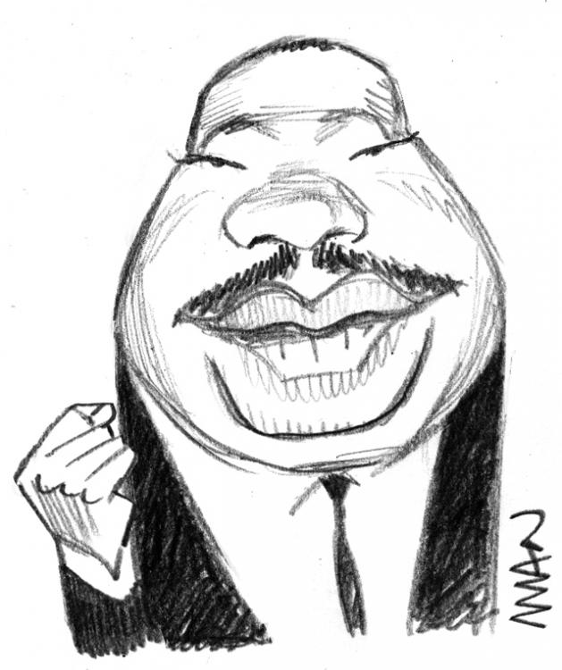 Caricature : Luther-King M.