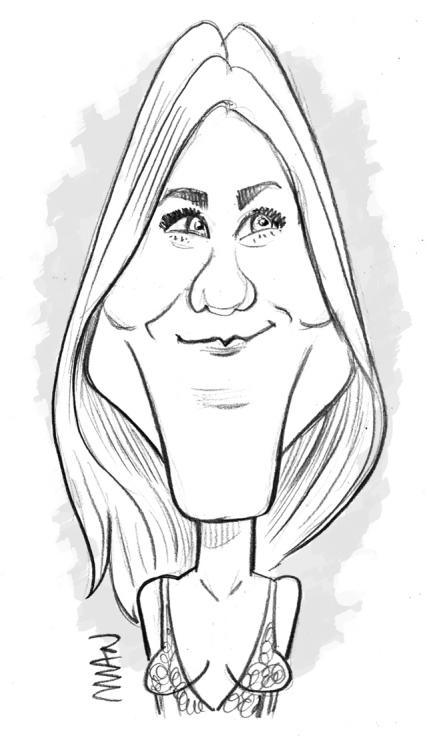 Caricature : Anniston Jennifer