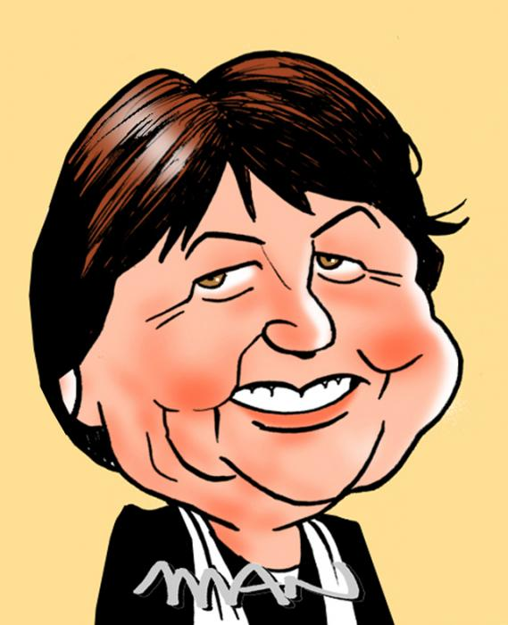 Caricature : Aubry Martine