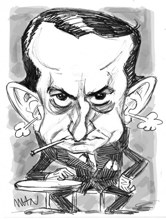 Caricature : Malraux André