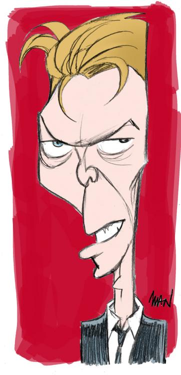 Caricature : Bowie David