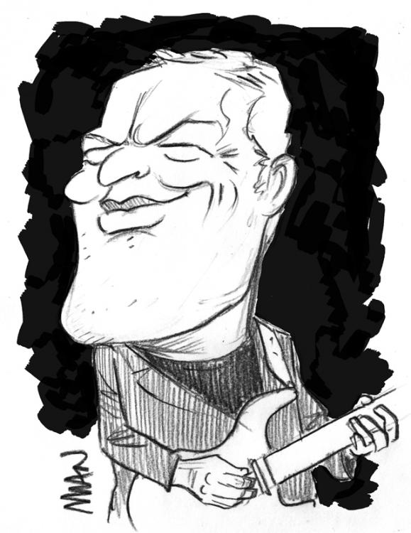 Caricature : Gilmour 2