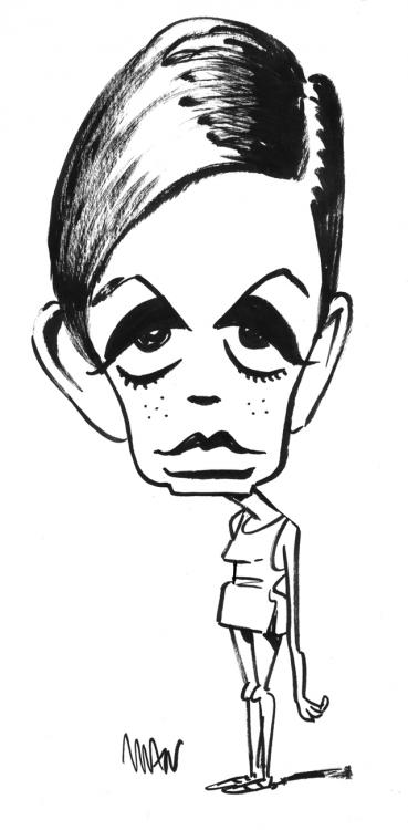 Caricature : Twiggy