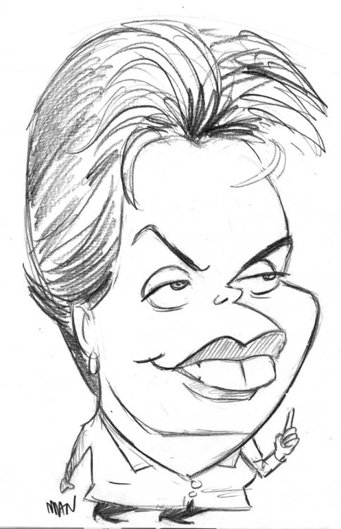 Caricature : Rousseff Dilma