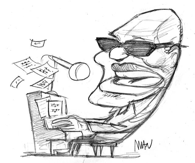 Caricature : Charles Ray