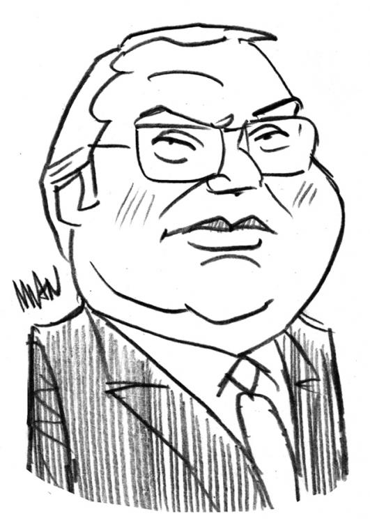 Caricature : Mauroy Pierre