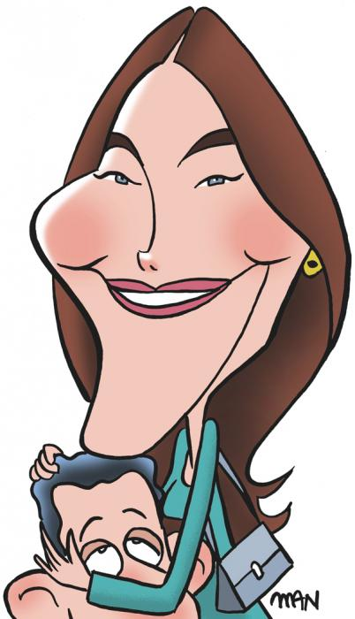 Caricature : Bruni Carla