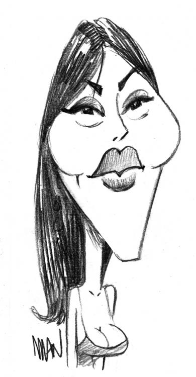 Caricature : Bellucci Monica