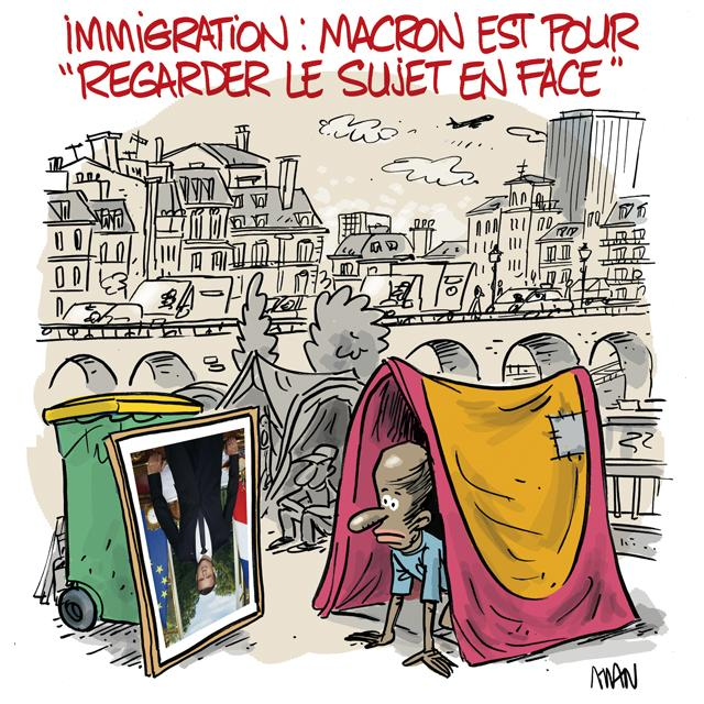 presse : Immigration-En face