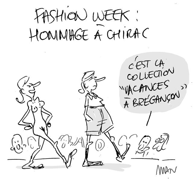 presse : Chirac-fashion week
