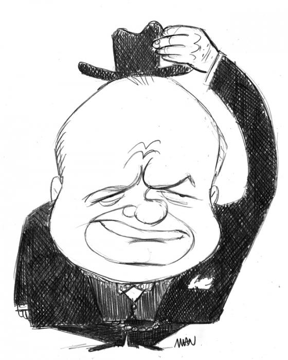 Caricature : Churchill Winston