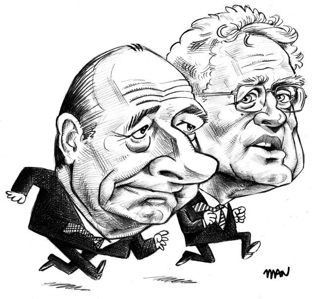 Caricature : Chirac & Jospin