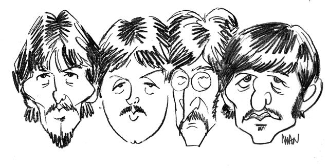 Caricature : Beatles